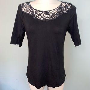 Ann Taylor 1/2 sleeve top with gorgeous neckline